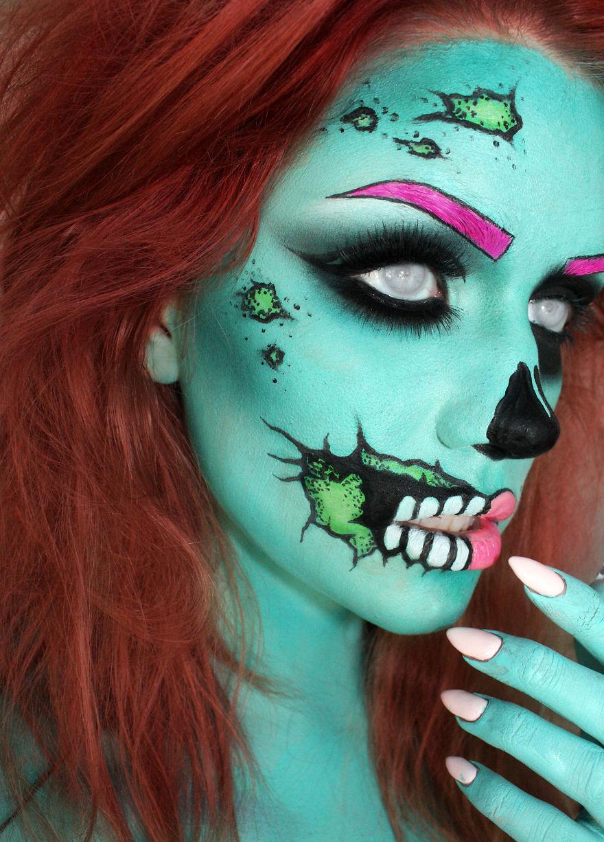 Страшный макияж на Helloween Мой профи - Блог